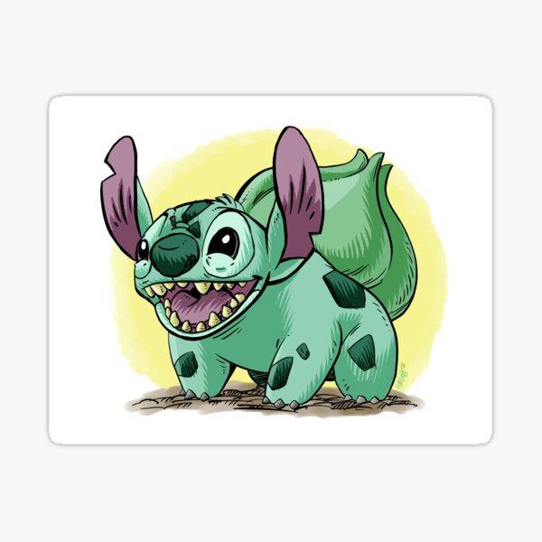 Stitch as Bulbasaur Sticker