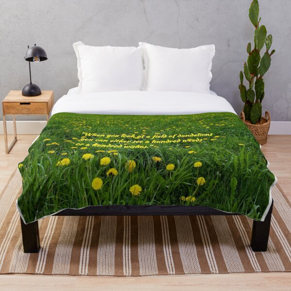 Field of Dandelions Throw Blanket