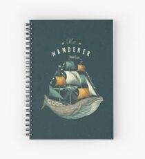 Whale | Petrol Grey Spiral Notebook