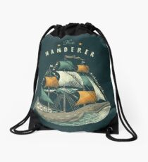 Whale | Petrol Grey Drawstring Bag