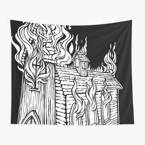 Church Fire Tapestry