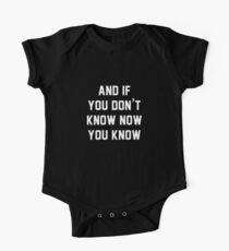 Und wenn du es jetzt nicht weißt, weißt du es Baby Body Kurzarm