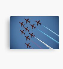 Red Arrows Number 1 Canvas Print