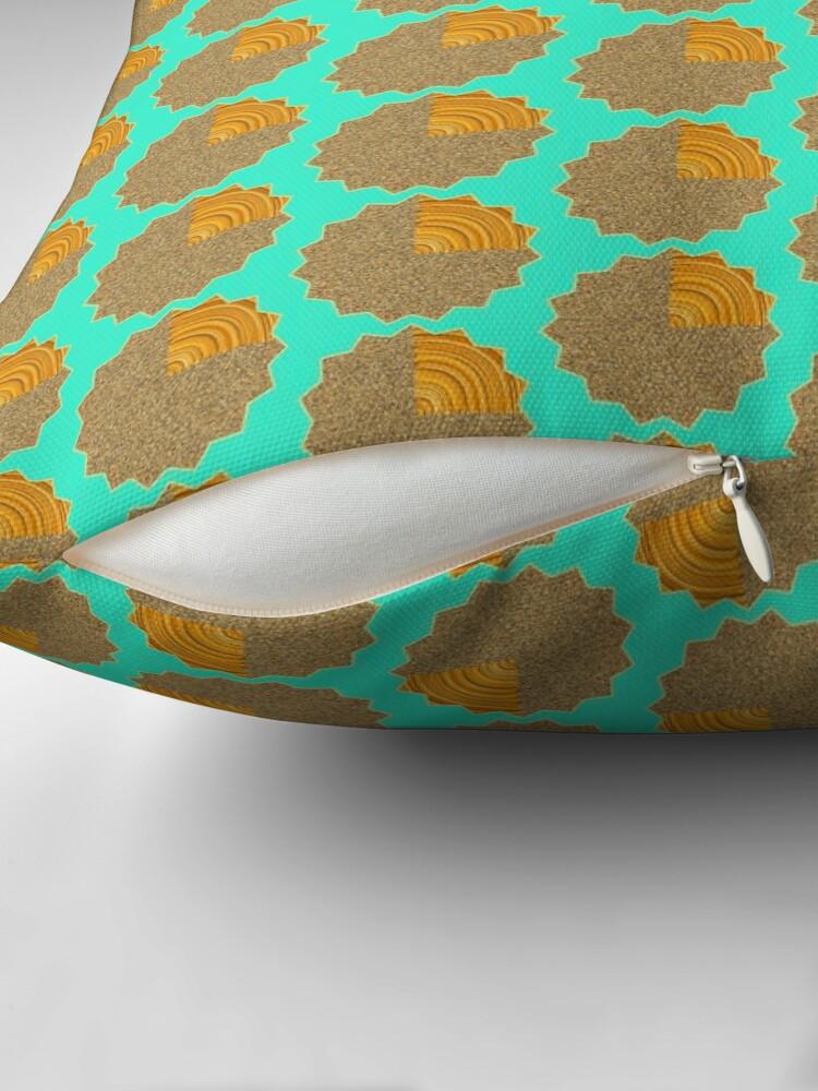 Alternate view of Electric Field Art II Repeating  Floor Pillow