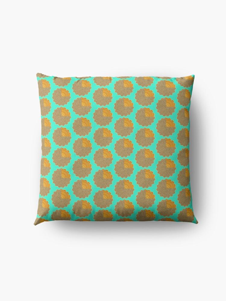 Alternate view of Electric Field Art II Repeating  Floor Pillow