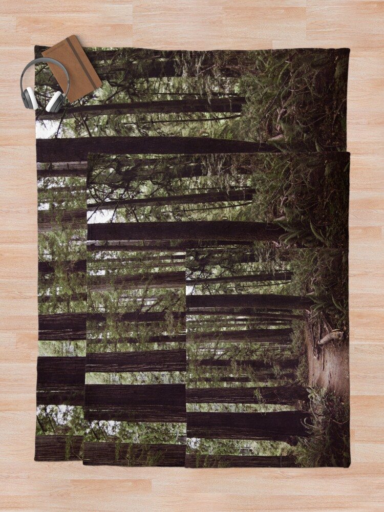 Alternate view of Redwood Forest Throw Blanket