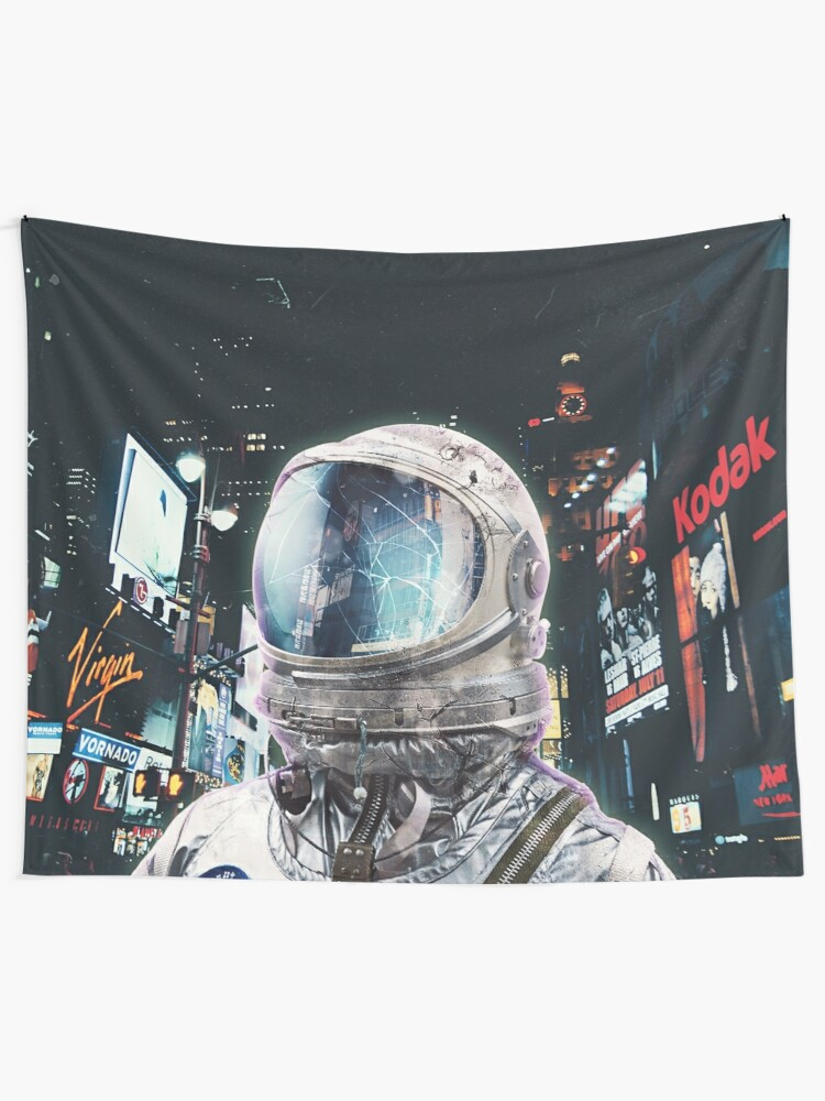 Alternate view of Night Life Tapestry