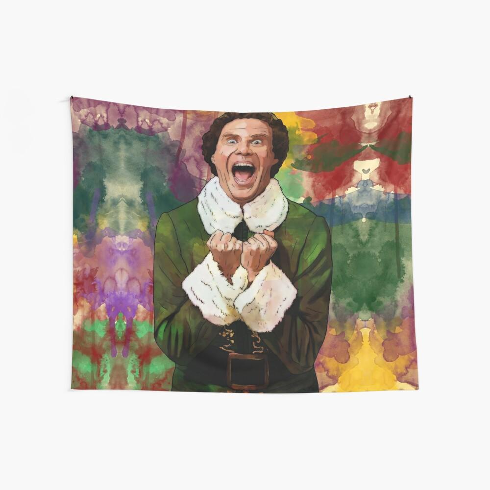 Elf - SANTA'S COMING! Wall Tapestry