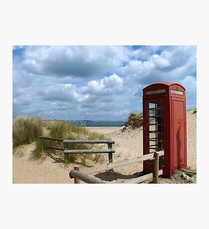 Little Red Box on Holiday Photographic Print