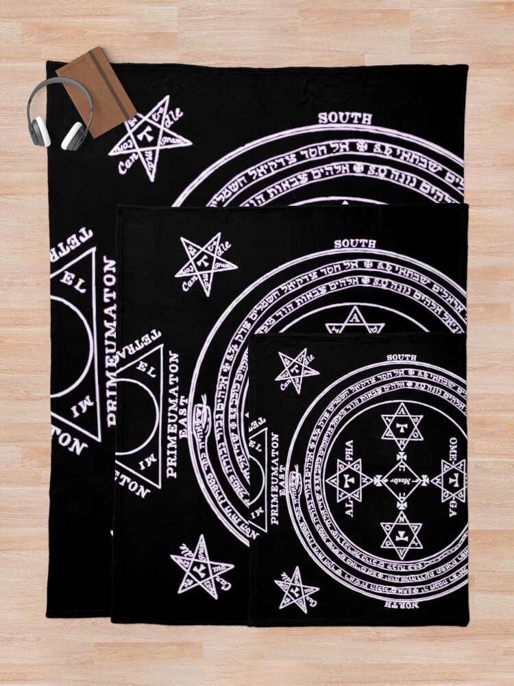Alternate view of  Magical Circle of King Solomon INVERTED Throw Blanket