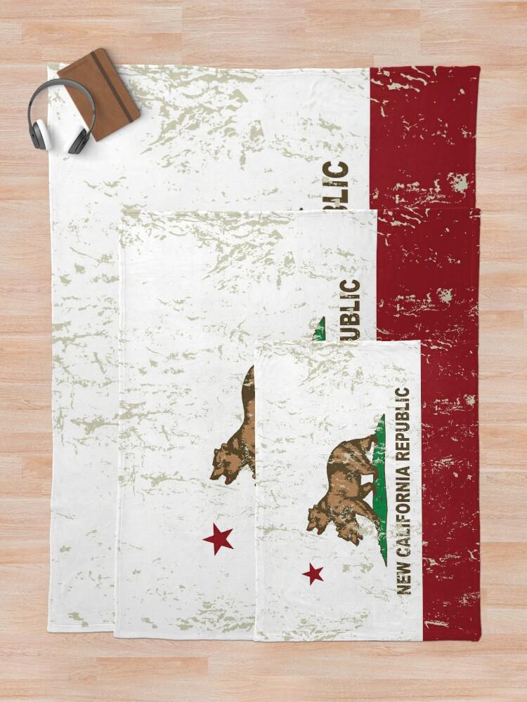 Alternative Ansicht von New California Republik Flagge Distressed Fleecedecke
