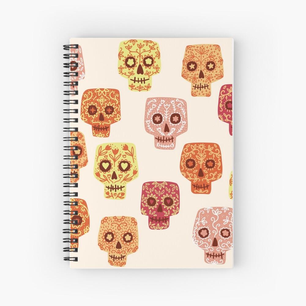 Dia de los Muertos Mexican Decorated Sugar Skull Art Spiral Notebook
