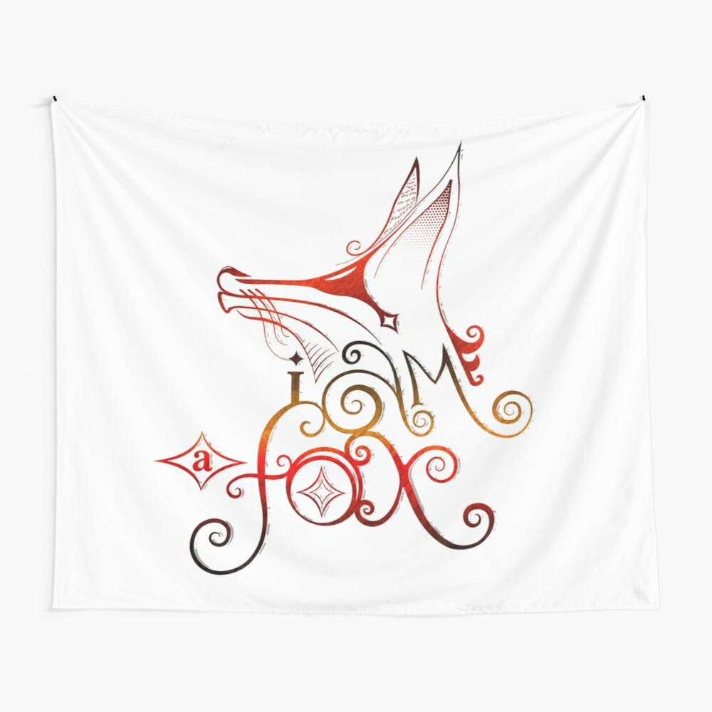 I am a Fox Wall Tapestry
