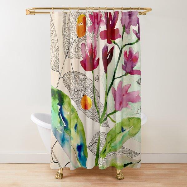 botanical composition Shower Curtain