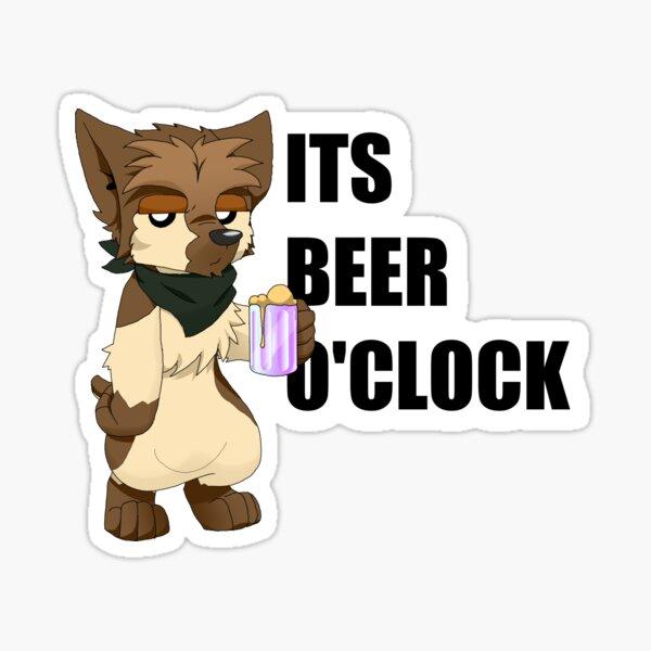 Its Beer-o'-Clock Sticker