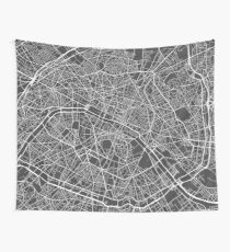 Paris Karte, Frankreich - Grau Wandbehang