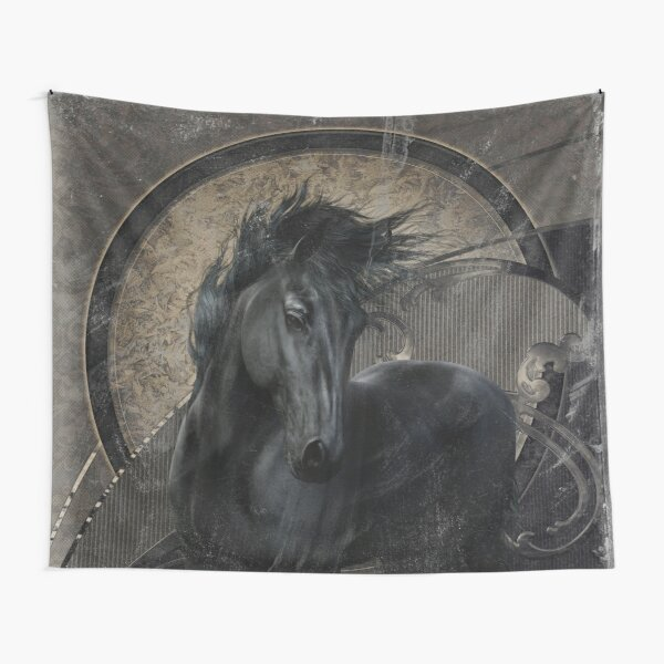 Gothic Friesian Horse Tapestry
