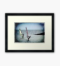 THE GRUNGE SURFERS Framed Print