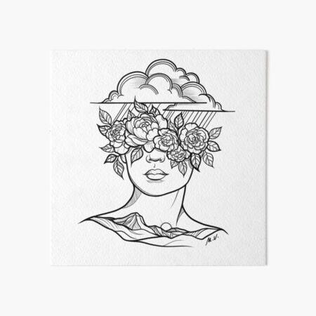 Raindrops on Roses Art Board Print