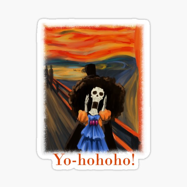 Scream Soul King Brook Yo-hohoho! Sticker