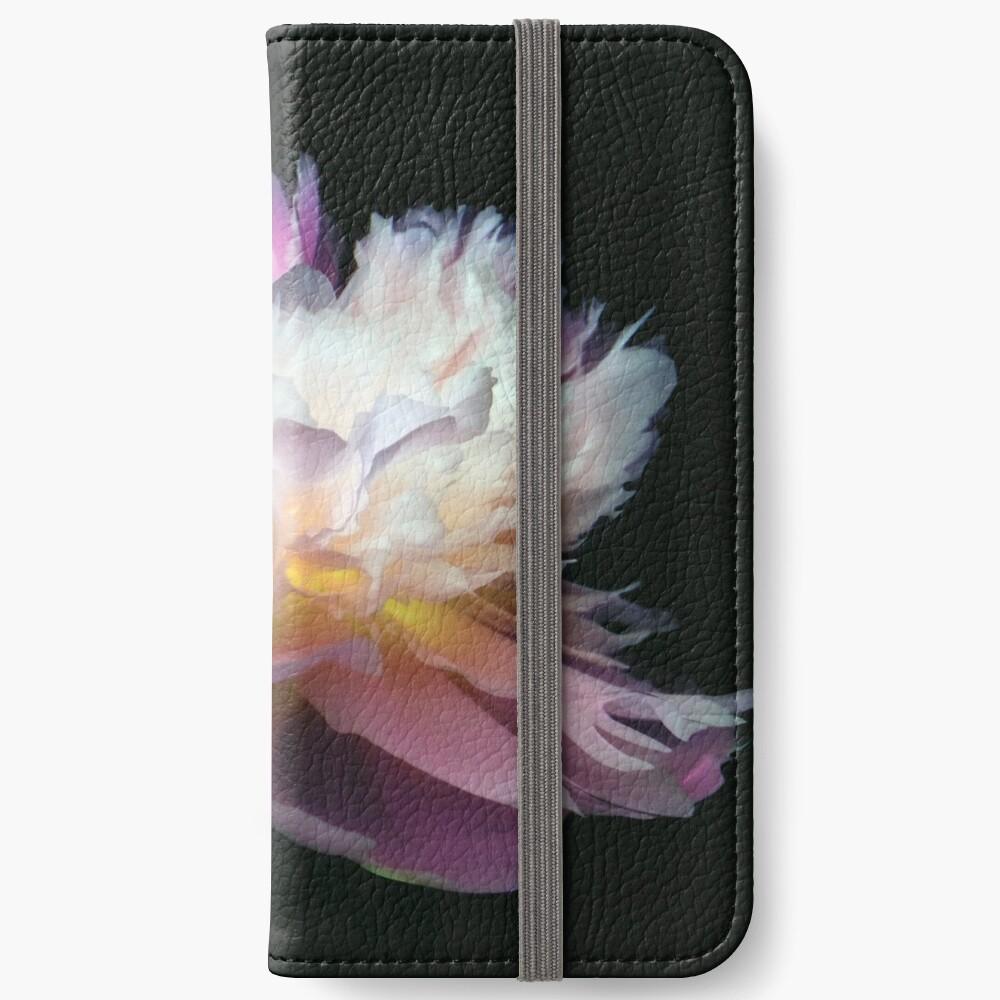 Étui portefeuille iPhone «Inverted peony»