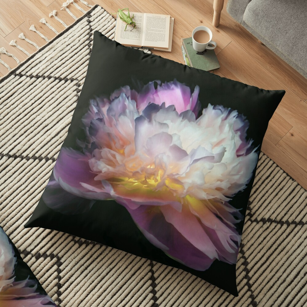 Coussin de sol «Inverted peony»