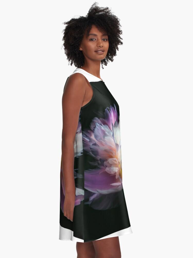 Robe trapèze ''Inverted peony': autre vue