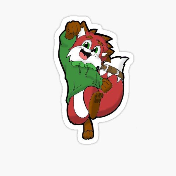 Hidge the Fox Sticker