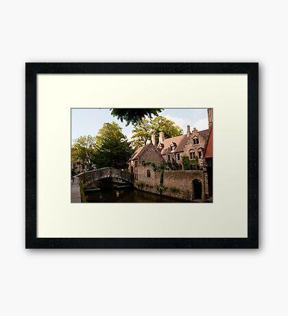 Centre of Medieval Bruges Framed Print