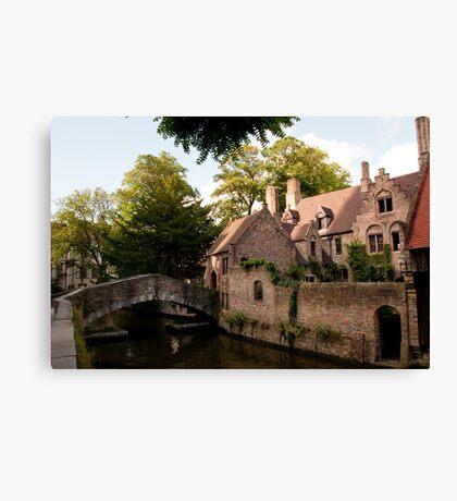 Centre of Medieval Bruges Canvas Print