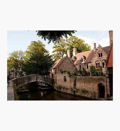 Centre of Medieval Bruges Photographic Print