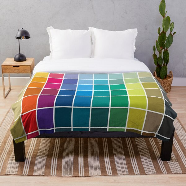 Colorful Soul - All colors together Throw Blanket