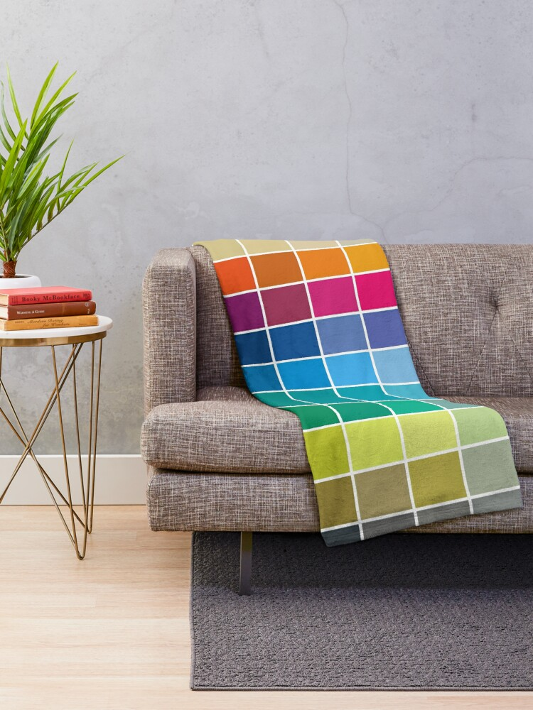 Alternate view of Colorful Soul - All colors together Throw Blanket