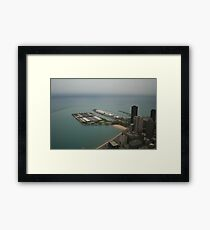 An aerial view of Chicago Framed Print