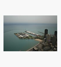An aerial view of Chicago Photographic Print