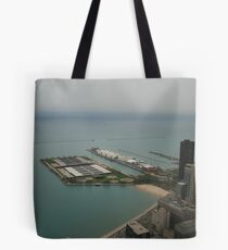 An aerial view of Chicago Tote Bag