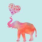 Elephant Love von AndreaHaaseArt