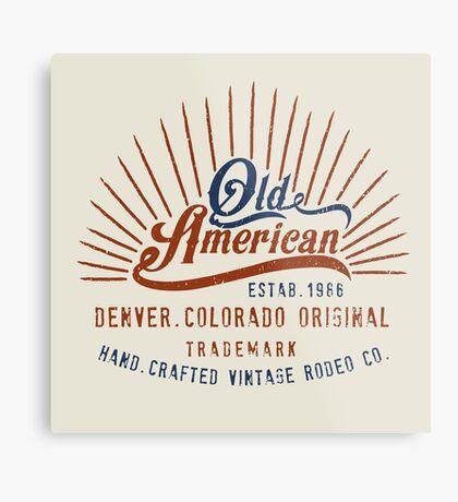 Denver Colorado Old American Metal Print
