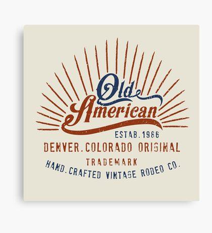 Denver Colorado Old American Canvas Print