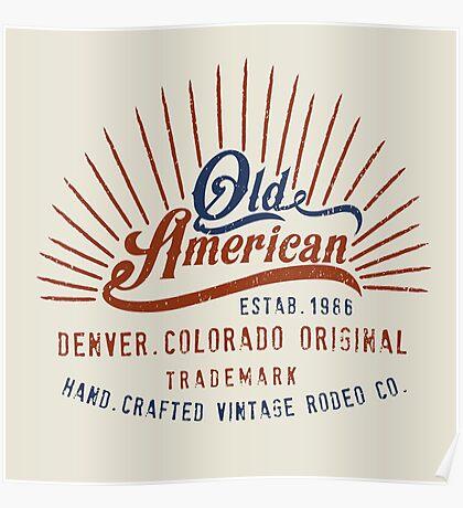 Denver Colorado Old American Poster