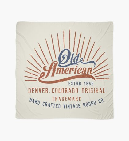 Denver Colorado Old American Scarf