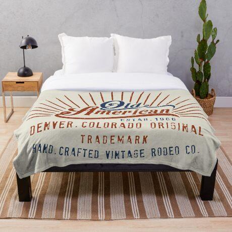 Denver Colorado Old American Throw Blanket
