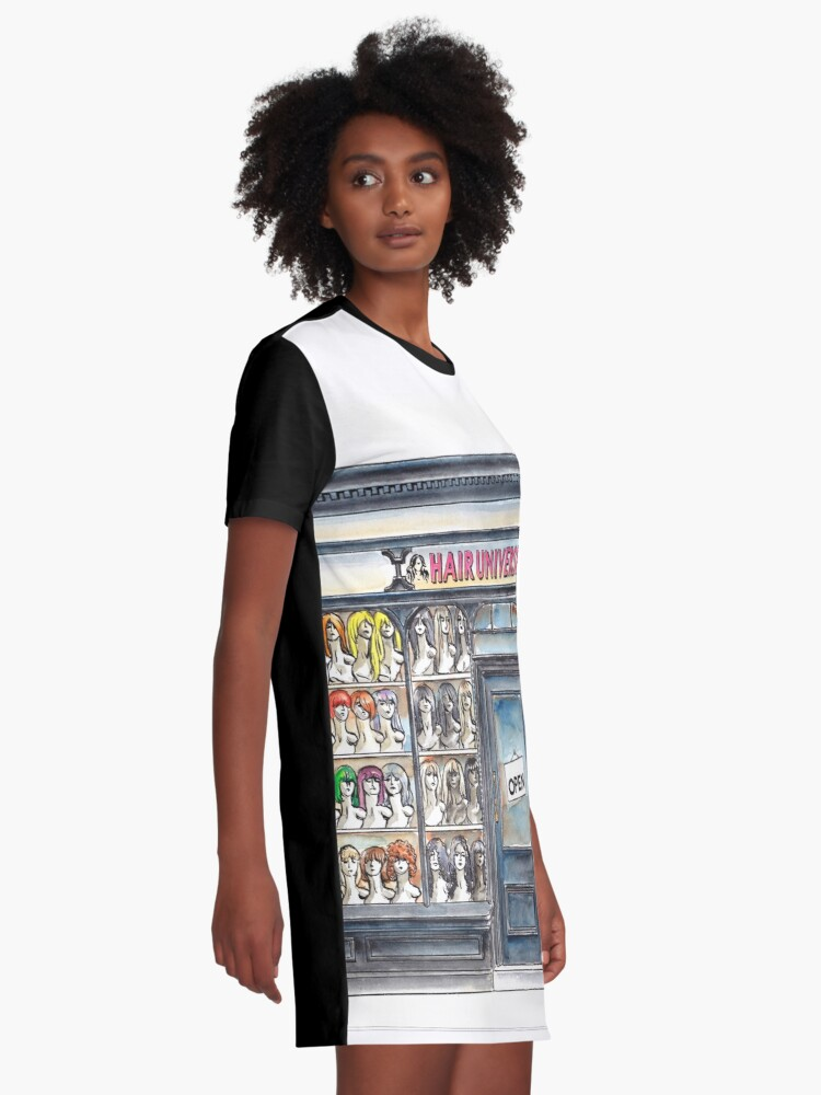 Alternate view of Hair Universe 2 Graphic T-Shirt Dress