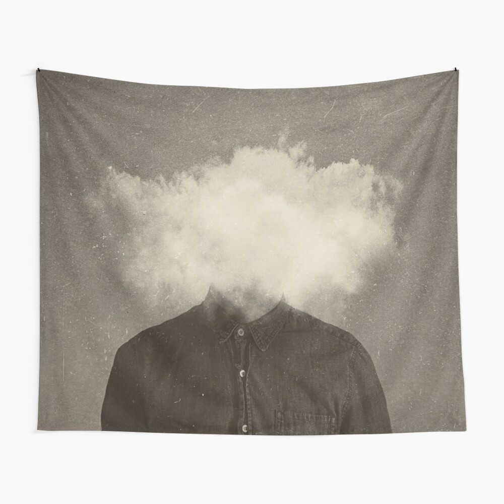 Kopf in den Wolken Wandbehang