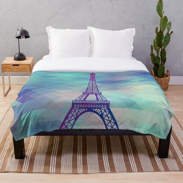 Eiffel Tower Paris Throw Blanket