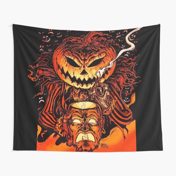 Pumpkin King Lord O Lanterns Tapestry