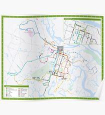Vereinigte Staaten von Amerika - Savannah - System Map - HD Poster