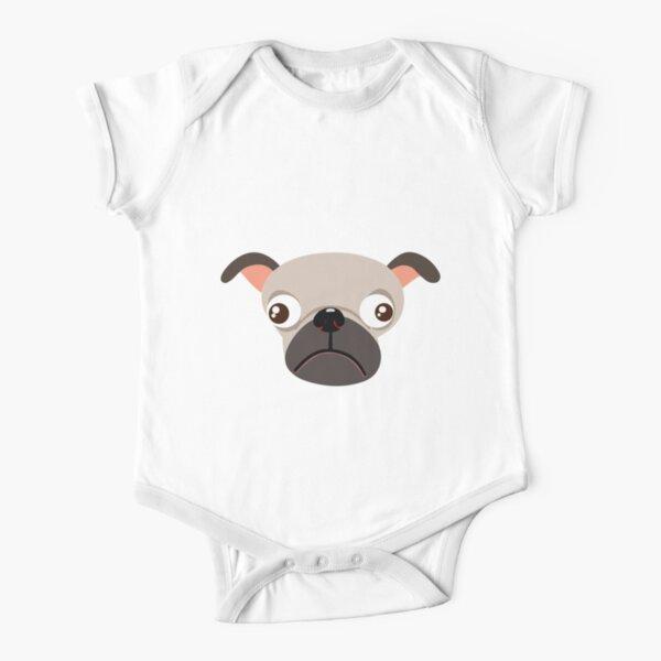 Pug Short Sleeve Baby One-Piece
