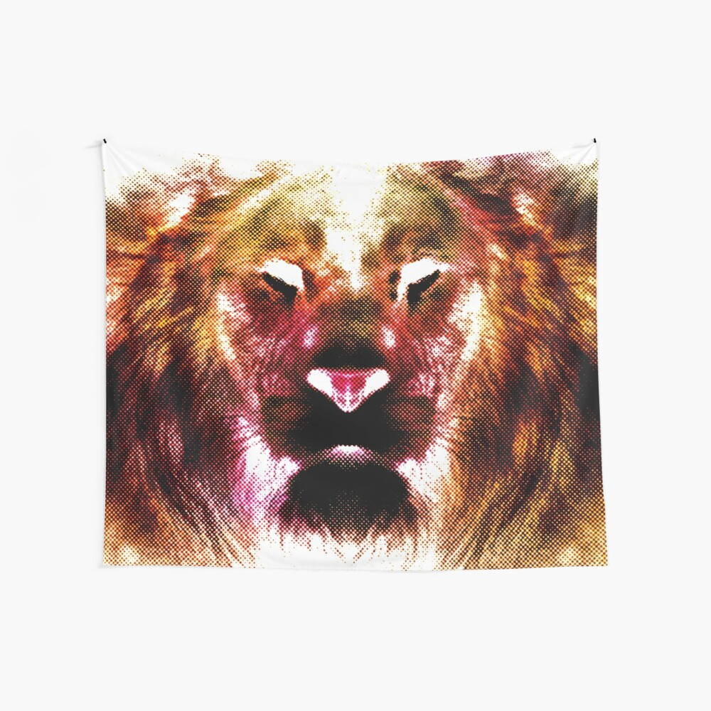 Heart Of A Lion Wall Tapestry