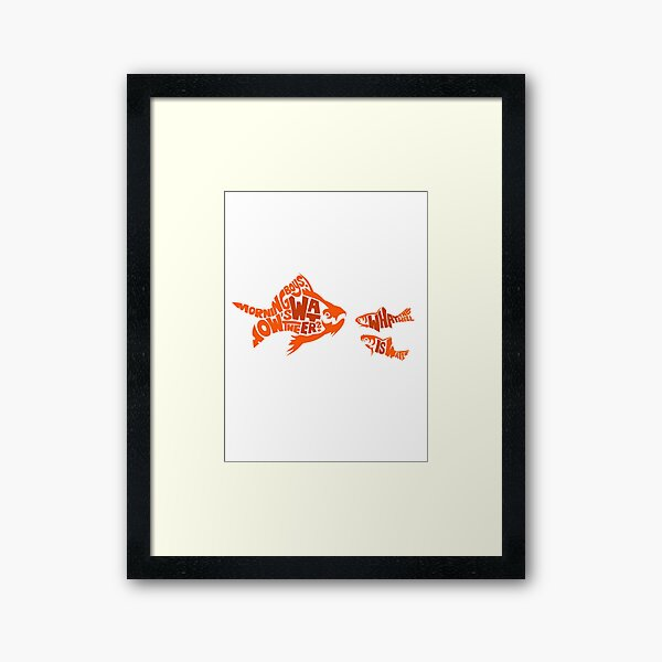 This is water Framed Art Print